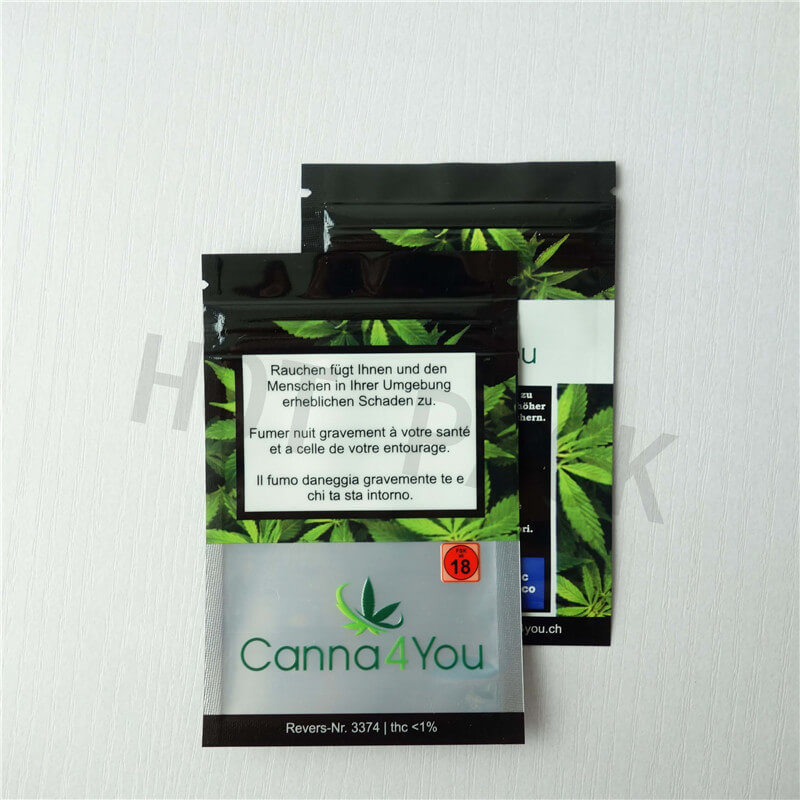 Cannabis Ziplock Packaging Bags