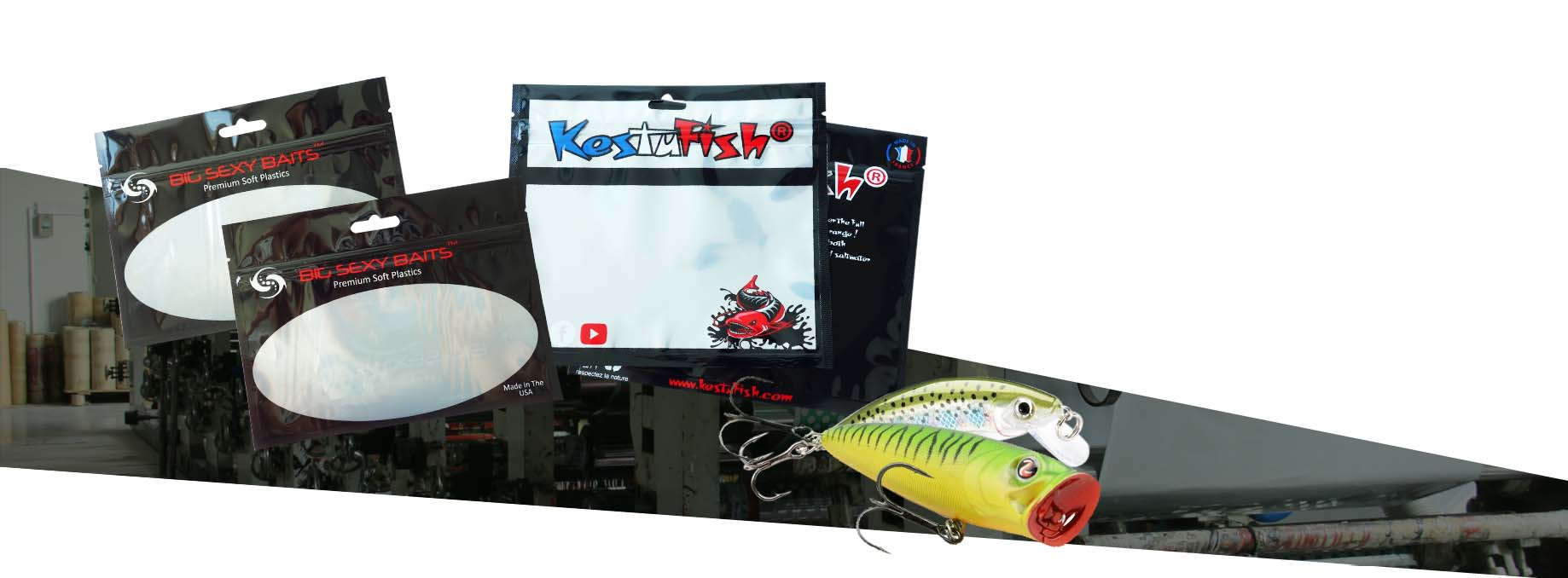 fish lure zipper bags