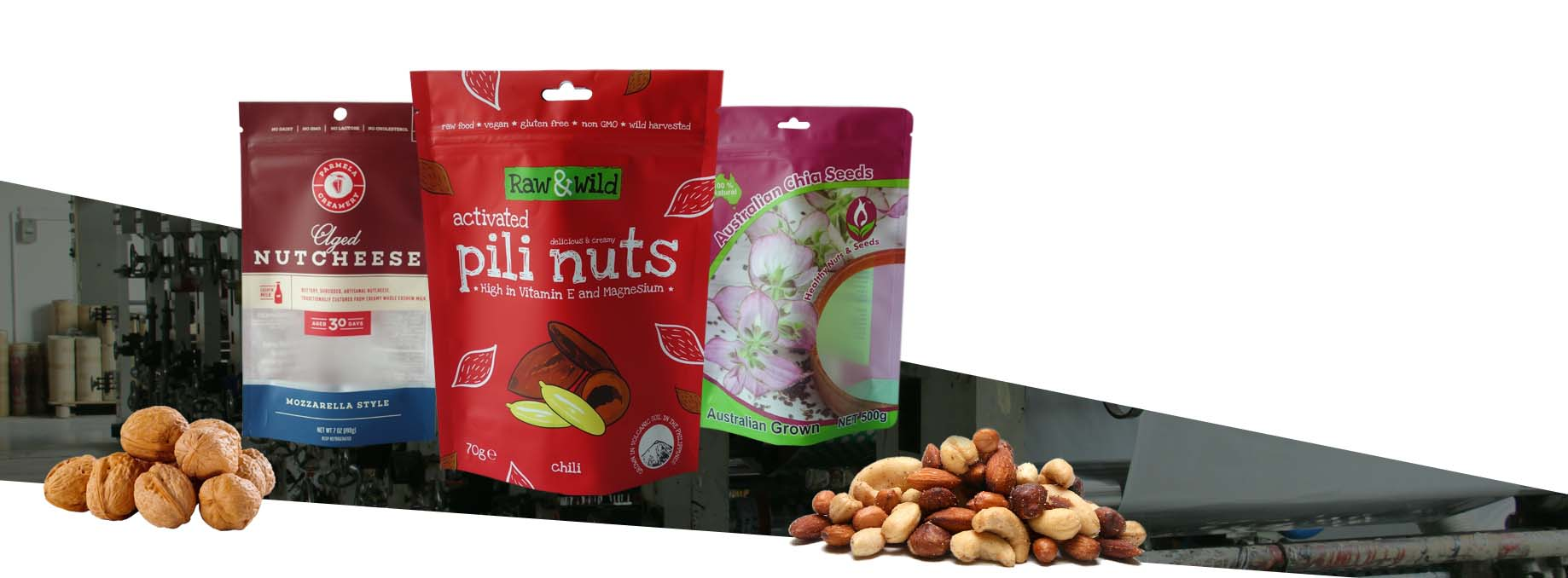 stand up pouches for nuts